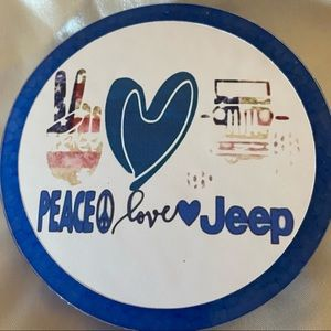 Peace Love Jeep Car Freshener